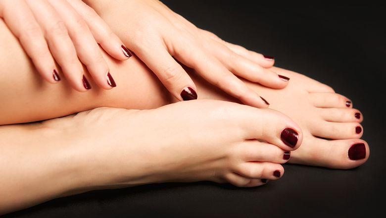 Füße und Hände - pedikürt und manikürt ....